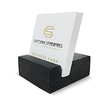 square business card holder black absolute granite