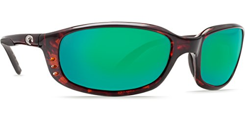 Costa Del Mar Brine Polarized Sunglasses Tortoise/ Green Mirror 400g