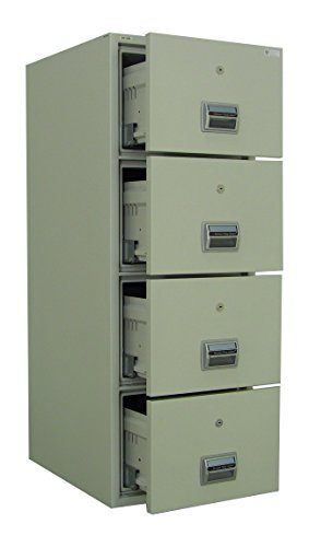 AMFFC-400 Fireproof and Burglary Resistant 4 Drawer File Cabinet