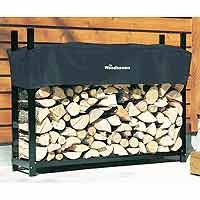 Woodhaven Log Rack 5ft with Cover by Woodhaven