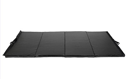 K&A Company Mat Thick Folding Panel Gymnastics Gym Fitness Exercise Tumbling New Black Home Large Pad 4' x 10' x 2""