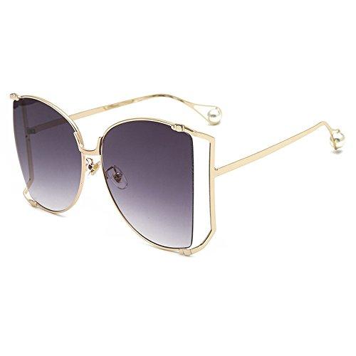 Retro E De De Sol De Gafas UN Mujer para Moda Sol Sol De Gafas Metal Gafas De Marco Gran JUNHONGZHANG De Gafas Redondas qP1x7nptH