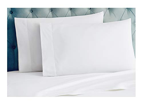 Tissaj Organic Cotton Pillowcases Set - 300TC Standard Size Ultra White Color - for Bedding - 100% GOTS Certified Long Staple Soft, Silky Sateen Weave - Luxury -