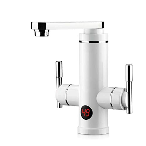 LE Electric Faucet is Hot Kitchen Treasure Over Water Rapid Heating Water Heater Double Handle Precise Temperature Adjustment Kitchen