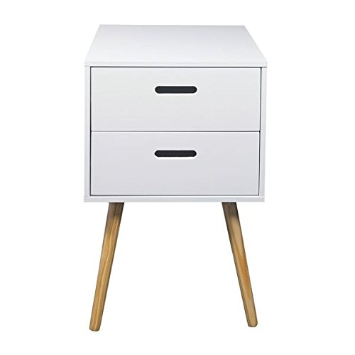 Amazon bedside tables home kitchen woodluv mdf retro 2 drawer bedside watchthetrailerfo