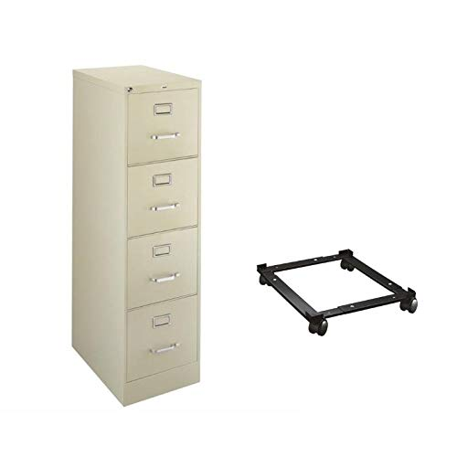 2 Piece Vertical Letter File Cabinet and Adjustable Mobile File Caddy