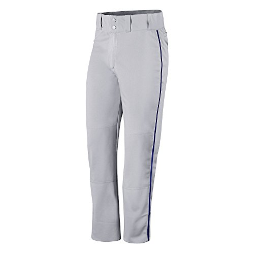 Champion Mens and Youth Prospect Baseball Open Bottom Pant # BS65 Steel Grey/Royal
