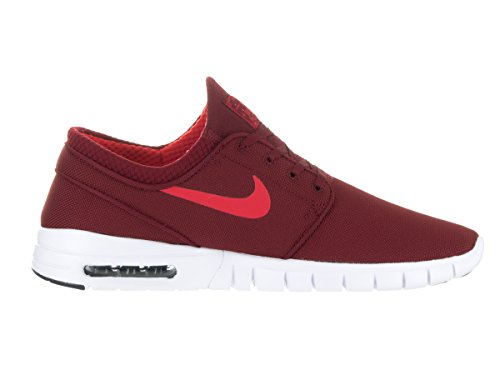Nike Stefan Janoski Max Hommes Rouge Textile Athlétique Lace Up Skate Shoes