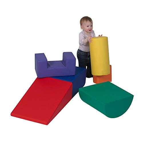Children's Factory Climb & Play 6 Piece Set for Toddlers, Baby Climbing Toys, Indoor Play Equipment for Homeschool/Classroom/Playroom, Primary Colors
