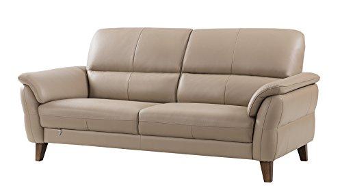 American Eagle Furniture King Collection Living Room Top Grain Italian Leather Sofa, (Italian Leather Sofa)
