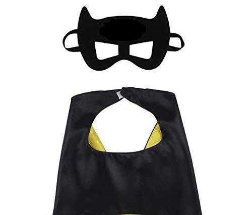 con Maschera Costumi di Carnevale HOUSE CLOUD Costumi da Supereroi Nero per Bambini Giocattoli per Bambini e Bambine Regali di Compleanno 1 Mantello