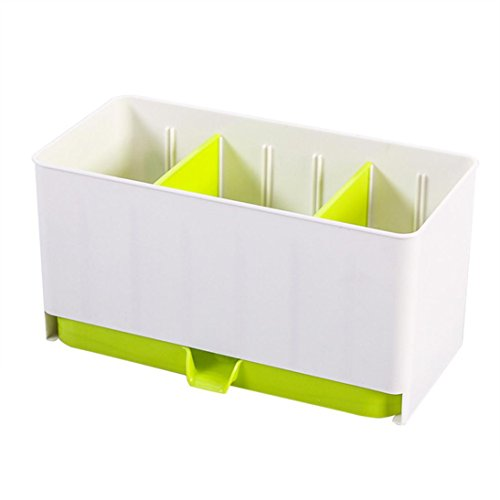 [Elevin(TM)Quick Home Diner Kitchen Portable Drain Spoon Chopsticks Cage Covered Storage Box Storage Organizer Rack] (Soy Sauce Costume Women)