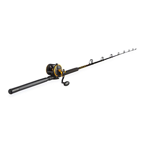 Penn Squall 30 Level Wind Fishing Rod and Trolling Reel Combo, 6.5 Feet (Best Inshore Rod And Reel)