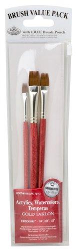 Royal & Langnickel Royal Zip N' Close Gold Taklon Comb 3-Piece Brush (Taklon Comb)