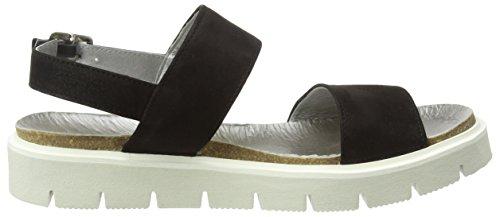 Sommer Black Heel Sh Shoes Black Women's Wedge 164446dd Chunky Damen Platform Leder SHOOT Sandale Sandals BOIqvxnvw