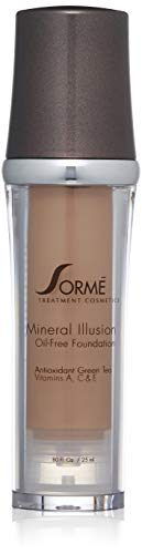 Sorme Cosmetics Mineral Illusion Foundation, Honey, 0.8 Ounce