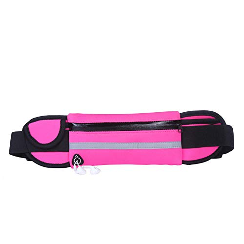 - Mini Fanny Pack for Women and Men Portable Convenient Usb Waist Pack Travel Multifunctional Waterproof Phone Belt Bag,Pink