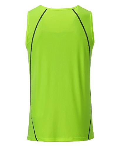 Sports black black bright Tanktop Men's Vert Homme James Bright green Débardeur green amp; Nicholson tTxBq