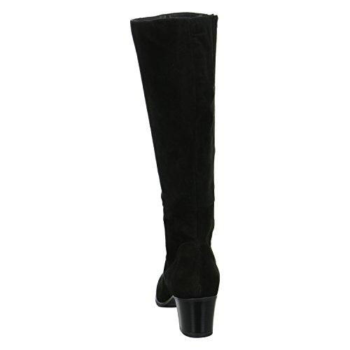 BLACK SUEDE nero, (BLACK SUEDE) 1-1-25549-27/004