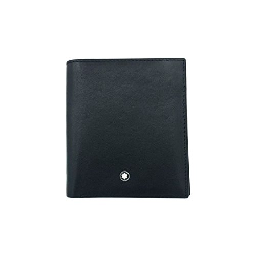 Мontblаnс Black Leather Men's Wallet 6 Cards, 1 ID Bag