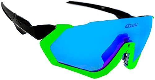 Herenfietsbril Fight gepolariseerde jas. 3 verwisselbare lenzen, anti-condens, schokbestendig, UV400-bescherming. Ideaal…