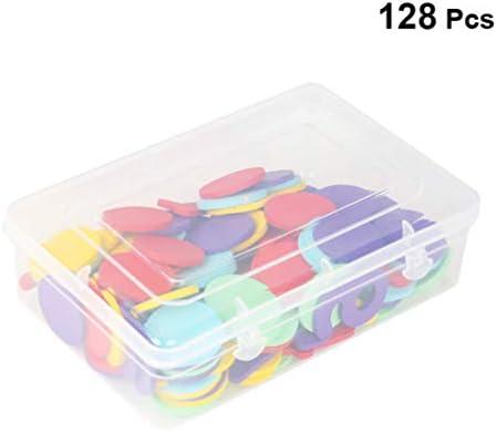 Toyvian 1箱のカラーカウンター学習カウンターディスク木製カウントディスクマーカーポーカーチップを学ぶための数学の練習ゲームトークン