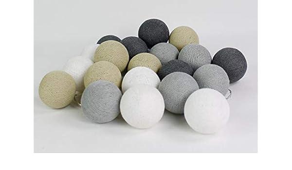 Pelota de Cotton Lights Arena de Grey 50, algodón, white de Cream ...