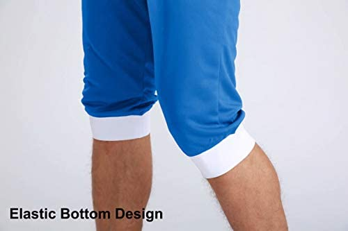 MAGCOMSEN Men's Joggers Workout Gym Running Mesh Shorts Quick Dry Lightweight Below Knee Sweatpants 5