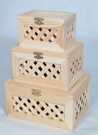 Nested Latticed Novelty Box - One Set
