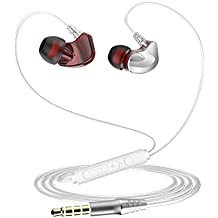 Headphones/Earphones/Earbuds, Ponoto 3.5mm in-Ear Headphones with Mic Compatible iPhone Samsung Galaxy S8 S7 S6 S5 S4 Edge + Note 4 5 6 7 8 and More Android Devices Silver