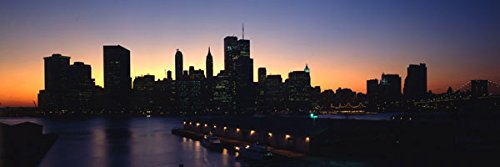Gango Home Décor NYC Before 9-11, Fine Art Photograph by: David Spindel; One 36x12in Fine Art Paper Giclee Print