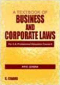 A Textbook of Business and Corporate Laws ; For C. A.