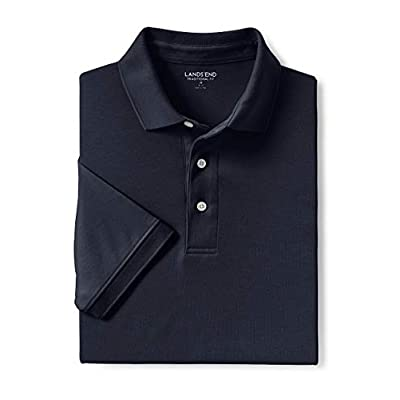 Lands' End Men's Big and Tall Short Sleeve Super Soft Supima Polo Shirt at  Men's Clothing store