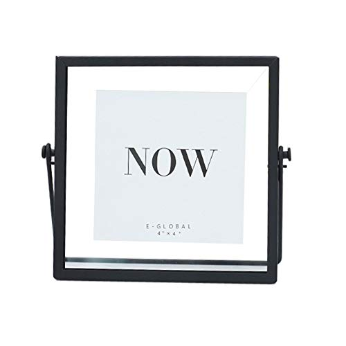 (Orgrimmar Simple Picture Frame Desk Photo Display for Pictures Art Illustrations Graphic Text Metal Black 6 x 6 inch )