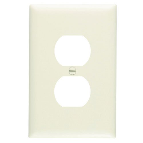 Legrand - Pass & Seymour TPJ8LACC70 Legrand One Duplex Outlet Opening Nylone Wall Plate, One Gang, Almond