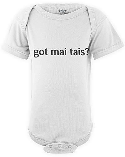shirtloco Baby Got Mai Tais Infant Bodysuit, White 24 Months