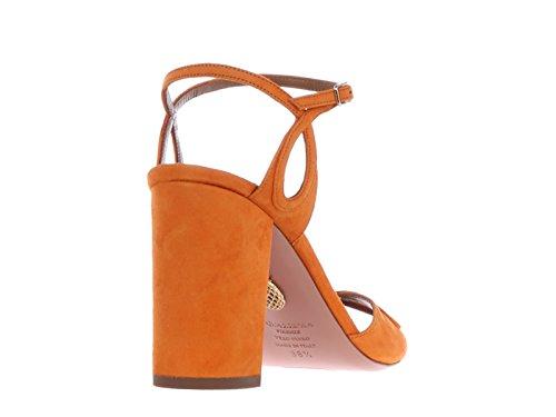 Aquazzura Camoscio Sandali Codice Sue Pelle 93c Arancio Tacco Modello Vermids0 Alto RIIBrw