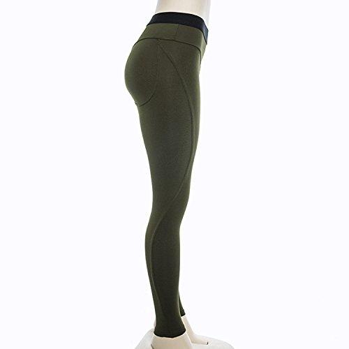 Haute Lisli Sport Crayon Printemps Vert Leggings Silm Respirant Jogging Fitness Longue Pantalon Femme Lache Yoga Taille r8qPrB