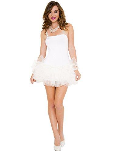 Music Legs Women's Tutu Dress, White, One Size ()