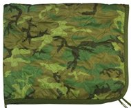 Military Outdoor Clothing Woodland Camouflage Poncho Liner ()