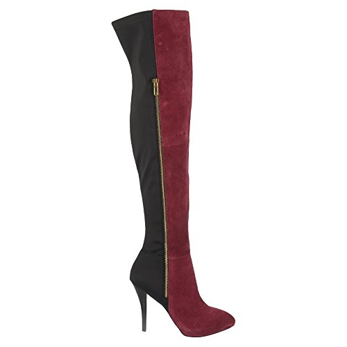 Carlos by Carlos Santana Womens Prime Dress Boot Wine Velour Suede