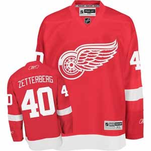 NHL Reebok Detroit Red Wings #40 Henrik Zetterberg Youth Red Replica Hockey Jersey (Large/X-Large)