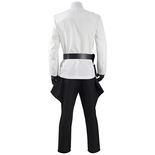 Fancycosplay Mens Battle Uniform White Cloak Full Set Cosplay Costume (Man-XXL) by Fancycosplay (Image #4)