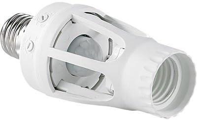 Lunartec 4er Pack Lampensockel-Adapter E27 auf E27 mit Helligkeitssensor