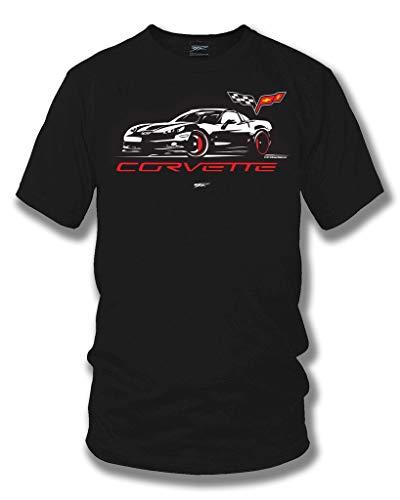 Wicked Metal Corvette c6 Stylized - Corvette C6 Stylized Logo Shirt - Muscle Car T-Shirt - Corvette C6 t-Shirt - XL ()