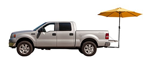 (TailBrella Yellow Tailgate Hitch Umbrella Canopy for Truck SUV Tailgater. 9FT Large Water-Resistant Tailgating Tents for Outdoor Camping, Beach, Travel, Hunting. EZ Pop Up Umbrellas for Shade)