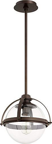 Quorum 88-13-86 Pendant, 1-Light, 60 Watts, Oiled Bronze