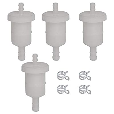 HIFROM Set of 4 Fuel Filter with Clamps Replacement for GX & GXV Honda Small Engines GX100, GX360, GX390, GX610, GX620, GX630, GX670, GXV160, GXV270, GXV340, GXV390, GXV610 Replace 16910-ZE8-015: Home & Kitchen
