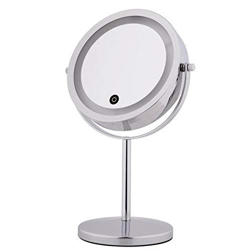 5X Specchio ingranditore per Occhi con Schermo tattile Chiaro Lucidatura a Specchio Regolabile a LED 7 Pollici Lucido Ingrandisci Specchio FEITA Specchi ingranditori Illuminati Ingrandimento 1x