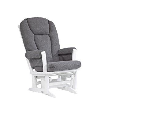 Dutailier Modern Glider - Dutailier Modern Glider, White/Dark Grey